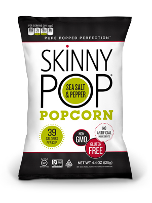 SkinnyPop Sea Salt & Black Pepper