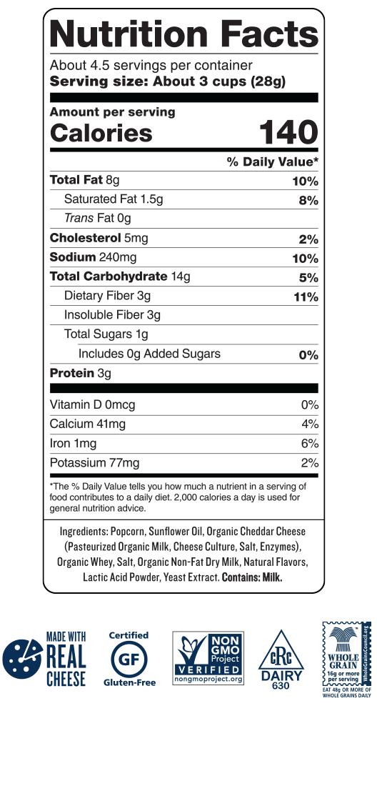 Skinny Pop White Cheddar Popcorn Nutrition Facts – Besto Blog